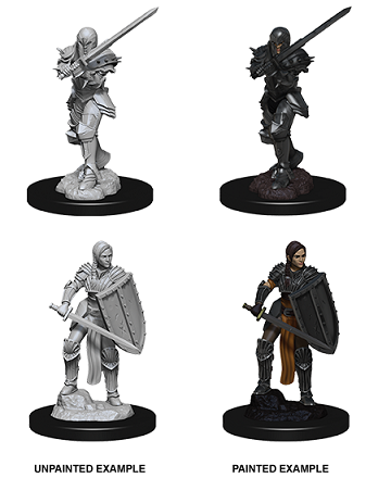 DND UNPAINTED MINIS WV9 FEMALE HUMAN FIGHTER