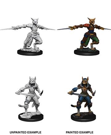 D&D Unpainted Minis: Female Tabaxi Rogue (WV9)