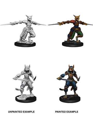 DND UNPAINTED MINIS WV9 FEMALE TABAXI ROGUE