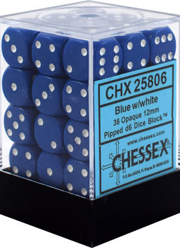 CHX25806 - OPAQUE 36D6 BLUE/WHITE 12MM