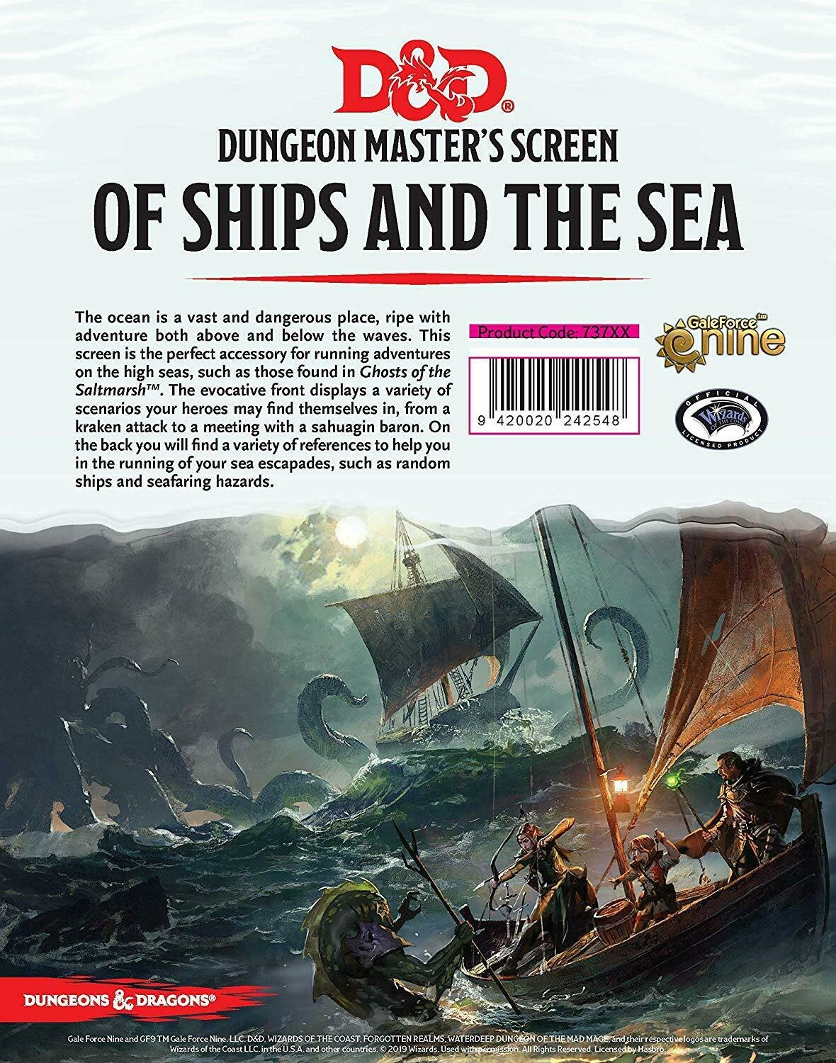 "DnD Dm Screen - ""of Ships & The Sea"""