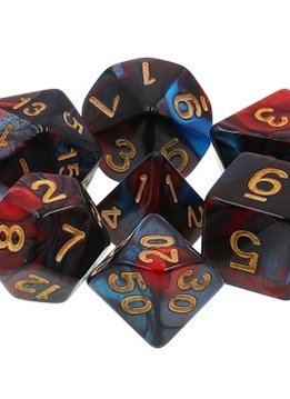 TMG Red Son 16mm 7pcs RPG Dice Set