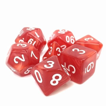 TMG Berserker's Rage 16mm 7pcs RPG Dice Set