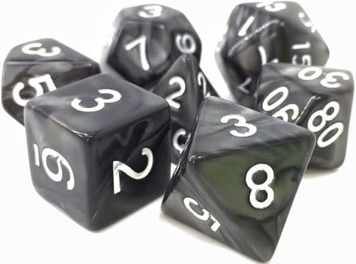 TMG Shadow Strike 16mm 7pcs RPG Dice Set