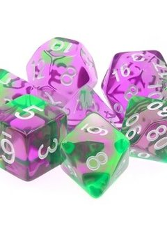 TMG Faerie Fire 16mm 7pcs RPG Dice Set