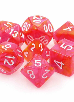TMG Dragon's Blaze 16mm 7pcs RPG Dice Set