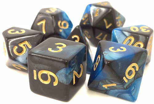 TMG Inky Underworld 16mm 7pcs RPG Dice Set