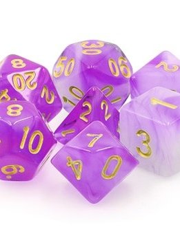 TMG Amethyst Dream 16mm 7pcs RPG Dice Set
