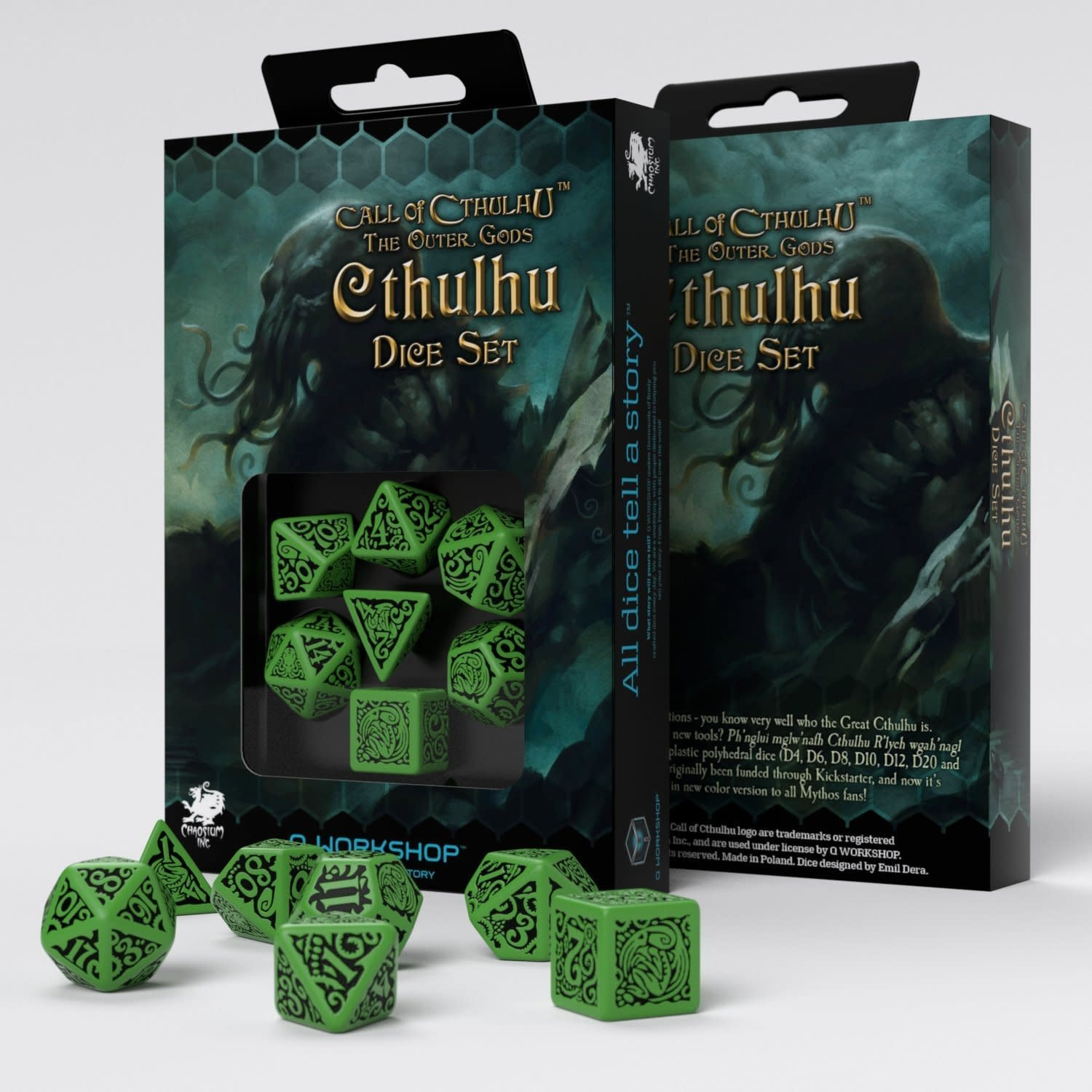 COC The Outer Gods Cthulhu Dice Set 7 Pc