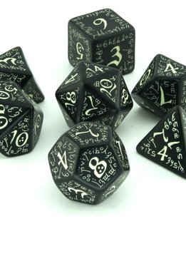 Elvish Dice Glow in the Dark 7Pc