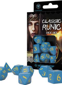 Runic Blue & Yellow Dice Set 7Pc