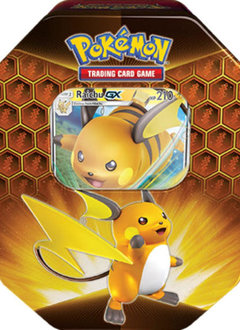 Pokemon Raichu Hidden Fates Tin