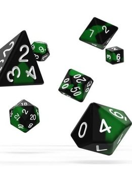 OD RPG Glow in the Dark 7 Dice Set - Biohazard