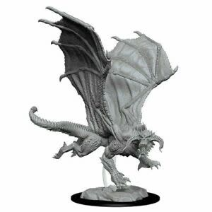 D&D Unpainted Minis - Young Black Dragon