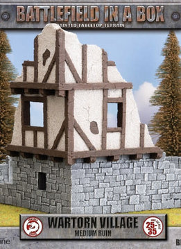 Battlefield in a Box: Wartorn Village Medium Ruins