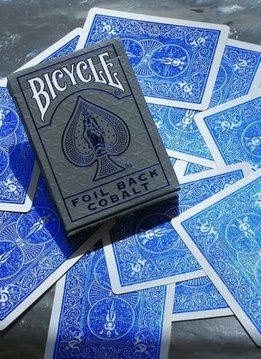 Bicycle - Foil Cobalt Blue Metalluxe Deck