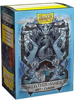 King Athromark III Coat of Arms Dragon Shield Sleeves Ltd. Ed. Matte Art 100ct