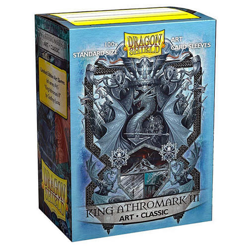 King Athromark III Coat of Arms Dragon Shield Sleeves Ltd. Ed. Matte Art 100ct