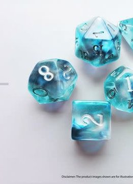 Birthday Dice: Zircon Nebula - 7pc RPG Set