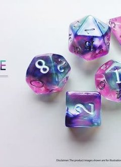 Birthday Dice: Alexandrite Nebula - 7pc RPG Set