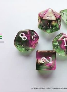 Birthday Dice: Tourmaline Nebula - 7pc RPG Set