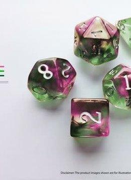Birthday Dice: Tourmaline Nebula - 7pc RPG Set