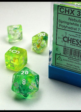 Lab Dice Nebula Spring w/ White 7pc Set