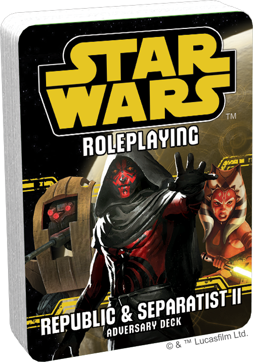 Star Wars RPG: Adversary Deck - Republic and Separatist II
