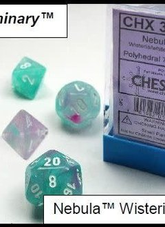 30033 Lab Dice Nebula Wisteria w/ White 7pc Set