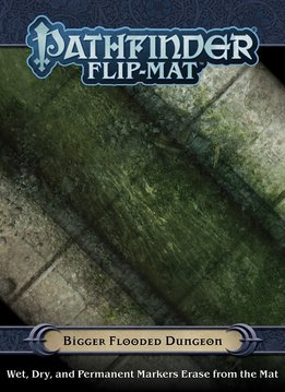Pathfinder Flip-Mat: Bigger Flooded Dungeon