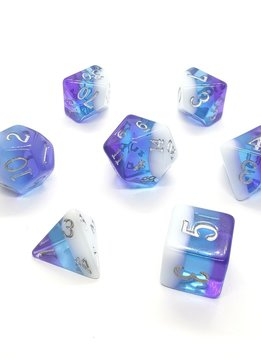 Birthday Dice: Pearl Nebula - 7pc RPG Set