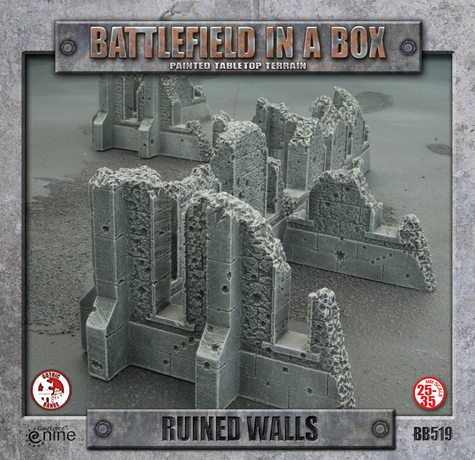 Battlefield in a Box - Gothic Ruined Walls