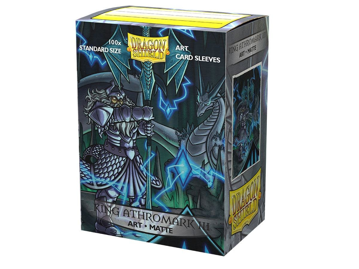 King Athromark III Portrait Dragon Shield Sleeves Ltd. Ed. Matte Art 100ct