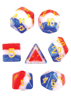 Old Glory 7pc Layered Dice Set
