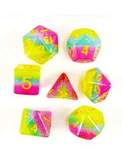 Pastel 7pc Layered Dice Set