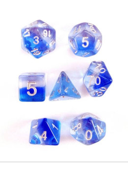 Mint Blue 7pc Layered Dice Set