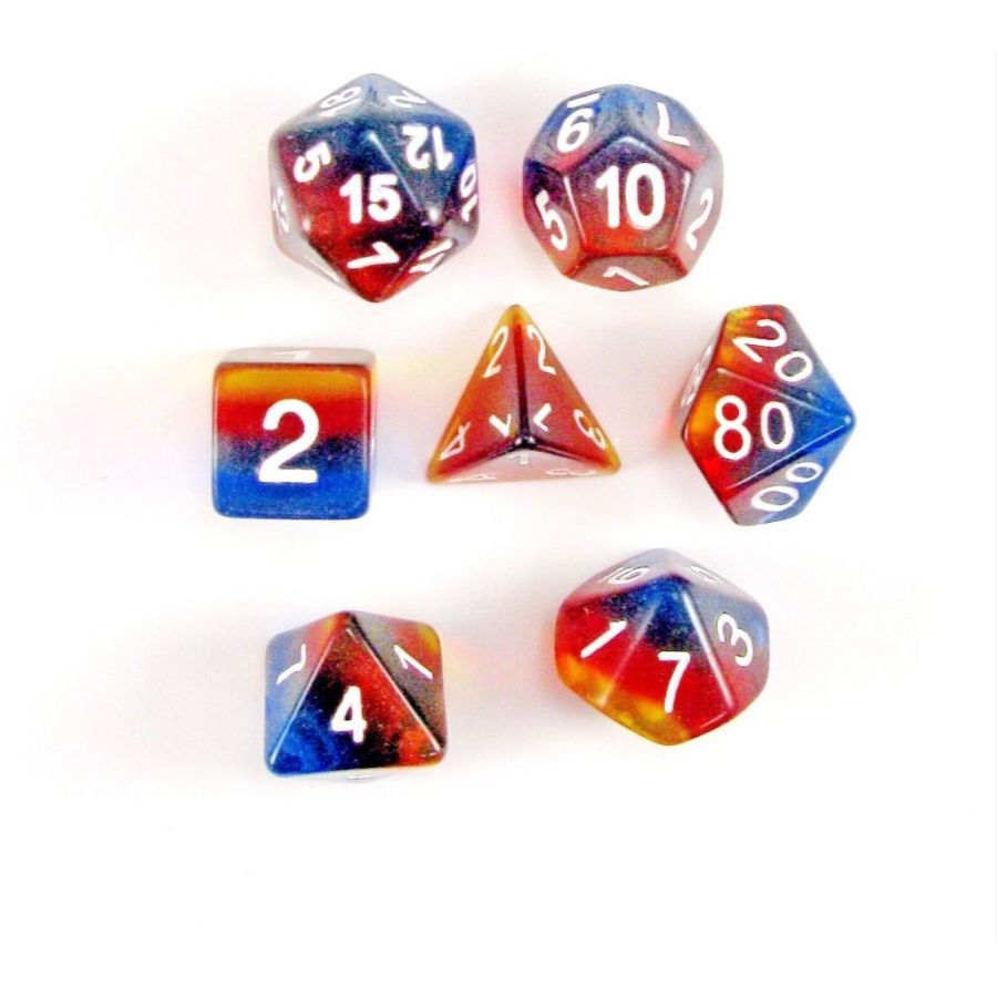 Sunset 7pc Layered Dice Set