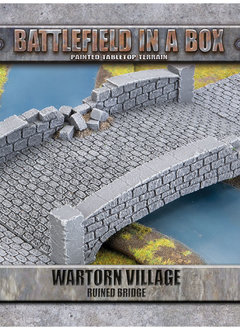 Battlefield in a Box - Wartorn Village Ruin Bridge