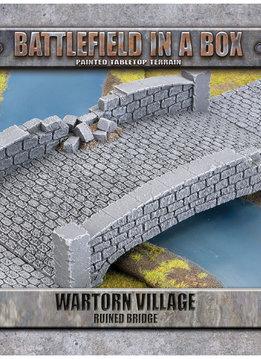 Battlefield in a Box - Wartorn Village Ruin Bridge