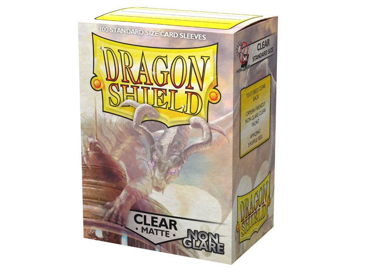 Dragon Shield Matte Clear Sleeves Non Glare