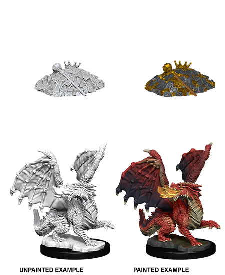D&D Unpainted Minis: Red Dragon Wyrmling