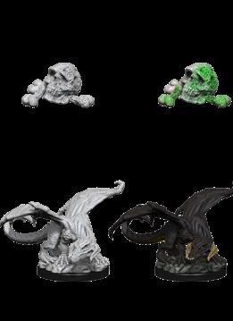 D&D Unpainted Minis: Black Dragon Wyrmling