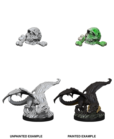 D&D Unpainted Minis: Black Dragon Wyrmling