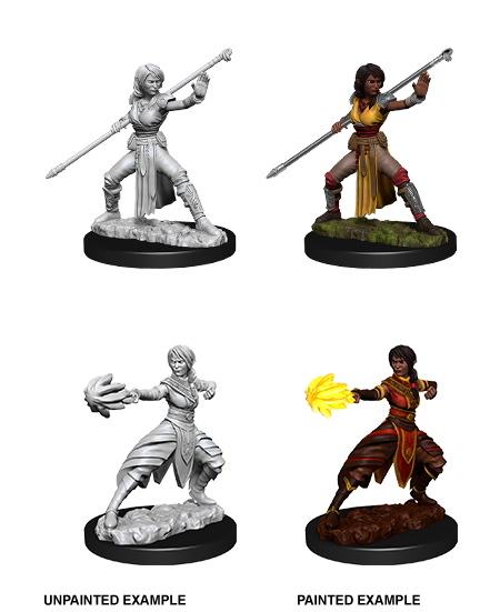D&D Unpainted Minis: Half-Elf Female Monk
