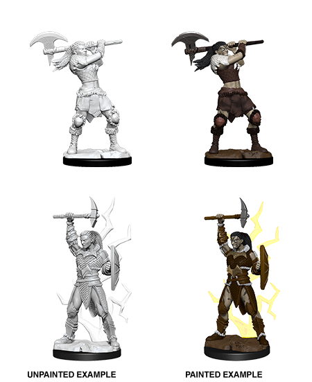 D&D Unpainted Minis: Goliath Female Barbarian