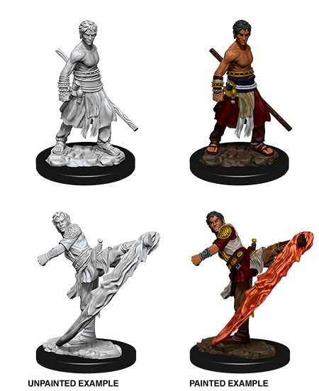 D&D Unpainted Minis: Half-Elf Male Monk