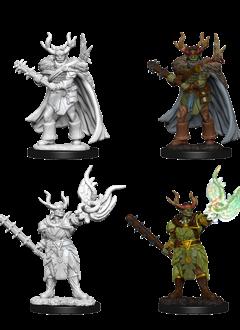 PF Unpainted Minis: Male Half-Orc Druid