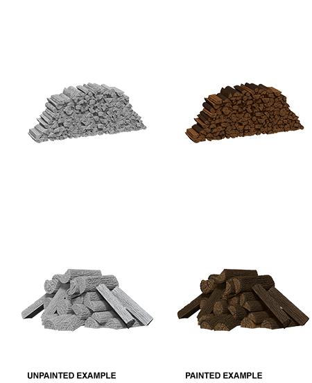 Wizkids Unpainted Minis: Piles of Wood