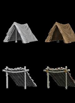 Wizkids Unpainted Minis: Tent & Lean-To