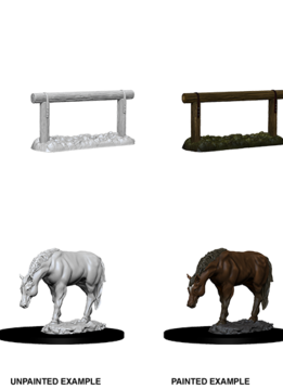 Wizkids Unpainted Minis: Horse & Hitch